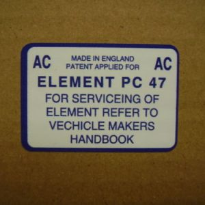 Air Box AC Service Sticker