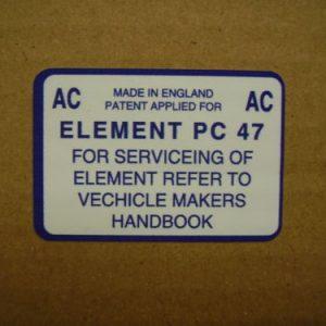 Air Box AC Service Sticker