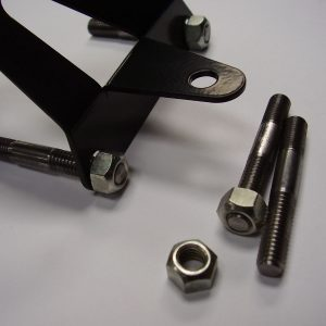 Throttle cable return spring bracket studs