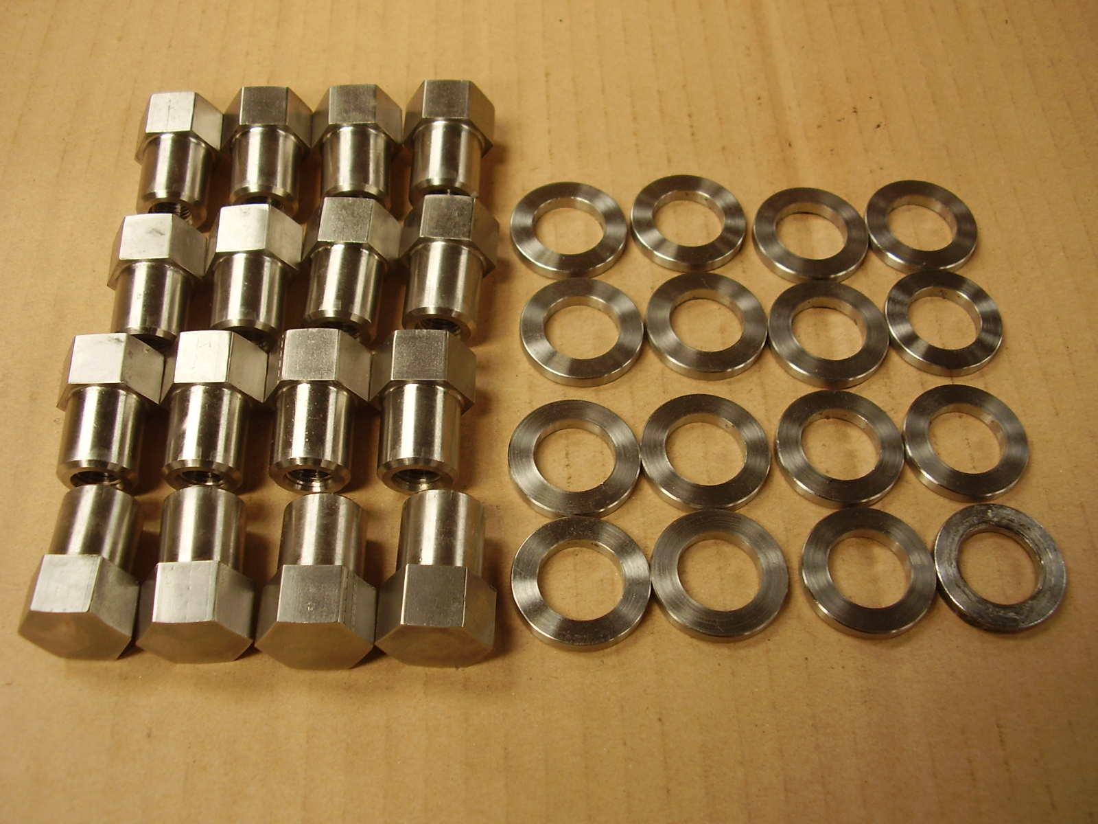 Minilite / RS Alloys New UNF Wheel Nuts in Stainless