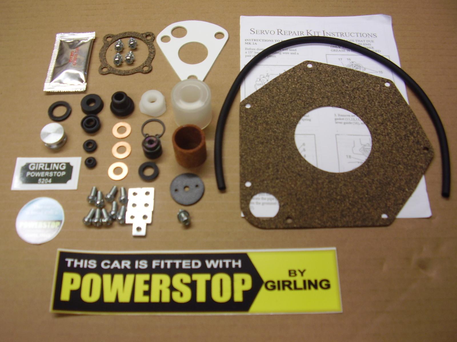 Girling MKIIA 5.5″ Servo Complete Service Kit