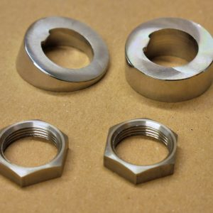 Windscreen Wiper Motor Spindale Chrome Spacers and Nuts
