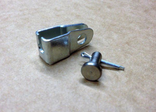 Mk1 Lotus Cortina Throttle Pedal Cable Bracket & Pin
