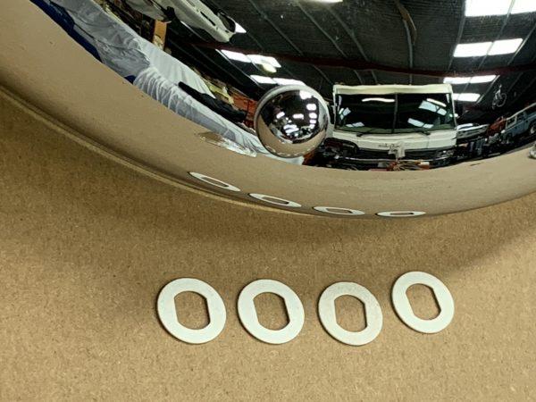 Chrome Bumper correct Fibre Washers
